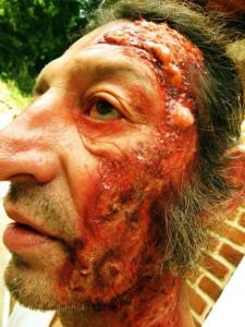 Maquiagem feita no ator André Ceccato