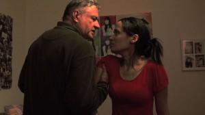 """Cena do filme """"Em Família"""" dirigido pela aluna Luciana Aguirre"""