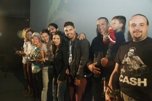 Todos os vencedores que estavam presentes na cerimônia de premiação da quinta edição do FWFF.