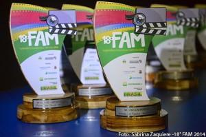Troféus do FAM, entregues para os professores e ex-aluno da AIC. Foto: Sabrina Zaquiere