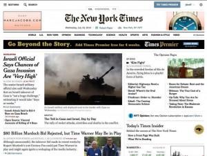 Capa do NYT falando sobre o documentário Kite Fight.