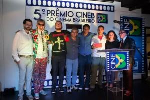Durante a premiação do CINEB, no último dia 24.
