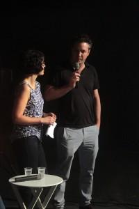 Os sócios-fundadores da AIC, Steven Richter e Flávia Rocha, abrindo o evento.