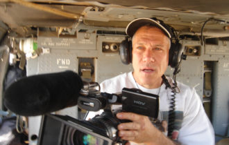 O premiado documentarista Jon Alpert, na AIC, dia 25/04