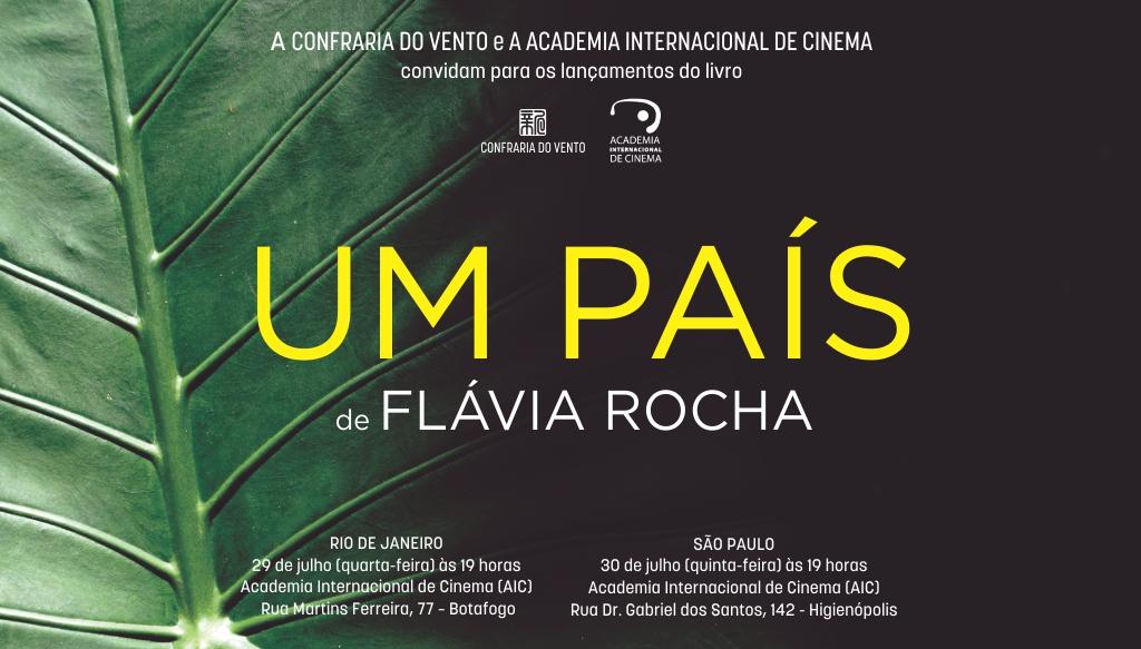 Flávia Rocha, fundadora da AIC, lança Um País, seu terceiro livro de poemas