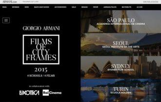 AIC produz curta a convite de Giorgio Armani