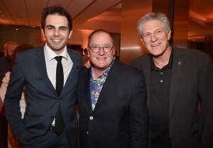 Daniel Drummond, vencedor da Medalha de Ouro na categoria Alternativa, John Lasseter - Diretor de Toy Story, CCO da Pixar e Walt Disney Feature Animation e Bill Kroyer, Vice-Presidente da Academia