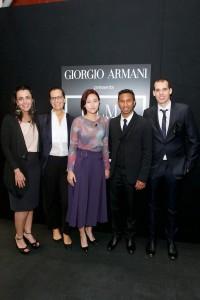 Os alunos participantes ao lado de Roberta Armani: Juliana Valente, Roberta Armani, Go Eun Kim, Chris Joys and Tommaso Bianch