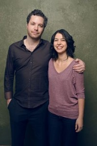 Steven Ricther (diretor e roteirista) e Flávia Rocha (roteirista)  de Birds Of Neptune. Foto: Getty images