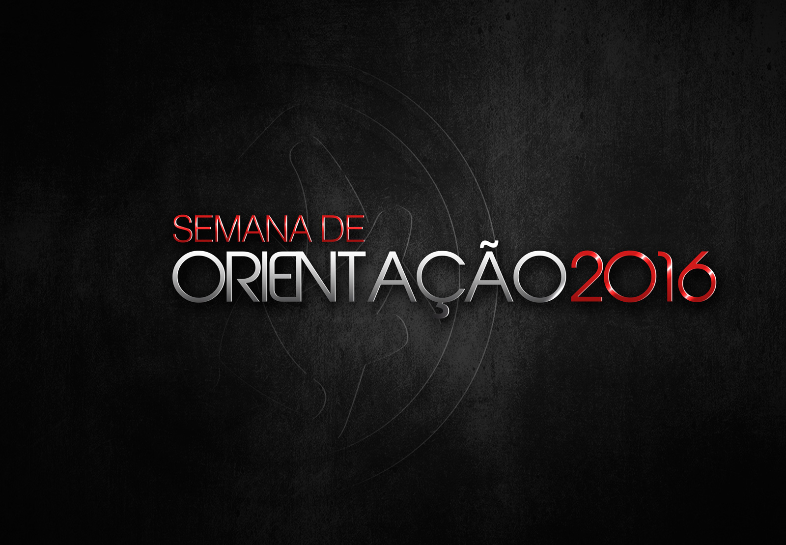 SEMANA DE ORIENTAÇÃO 2016