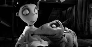 """Victor e o cão Sparky animador por Matias no longa """"Frankenweenie"""", de Tim Burton"""