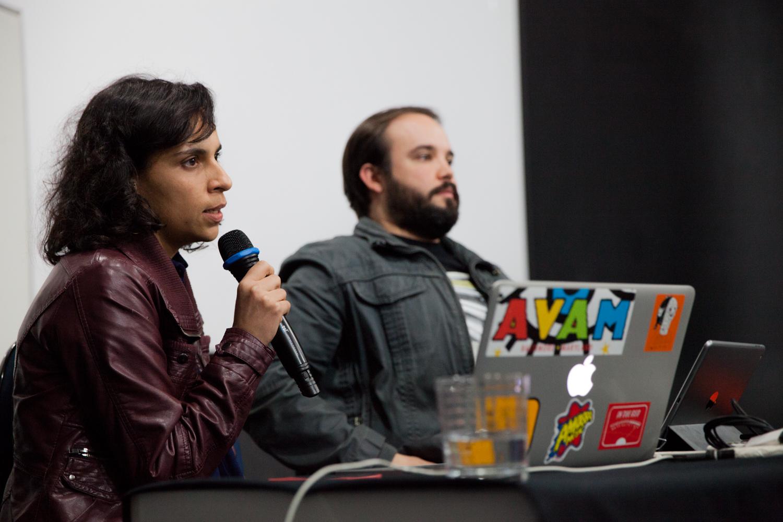 Ariel Henrique e Samanta do Amaral no terceiro dia da Semana de Cinema e Mercado