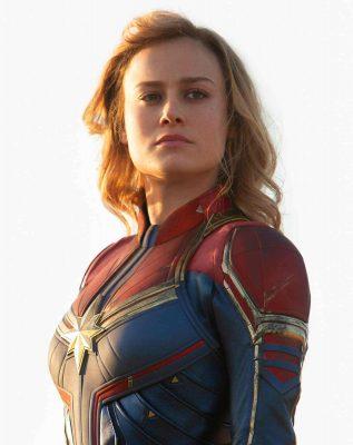 A atriz Brie Larson de Capitã Marvel