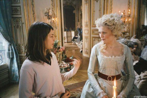 Sofia Coppola dirigindo Kirsten Dunst em Maria Antonieta