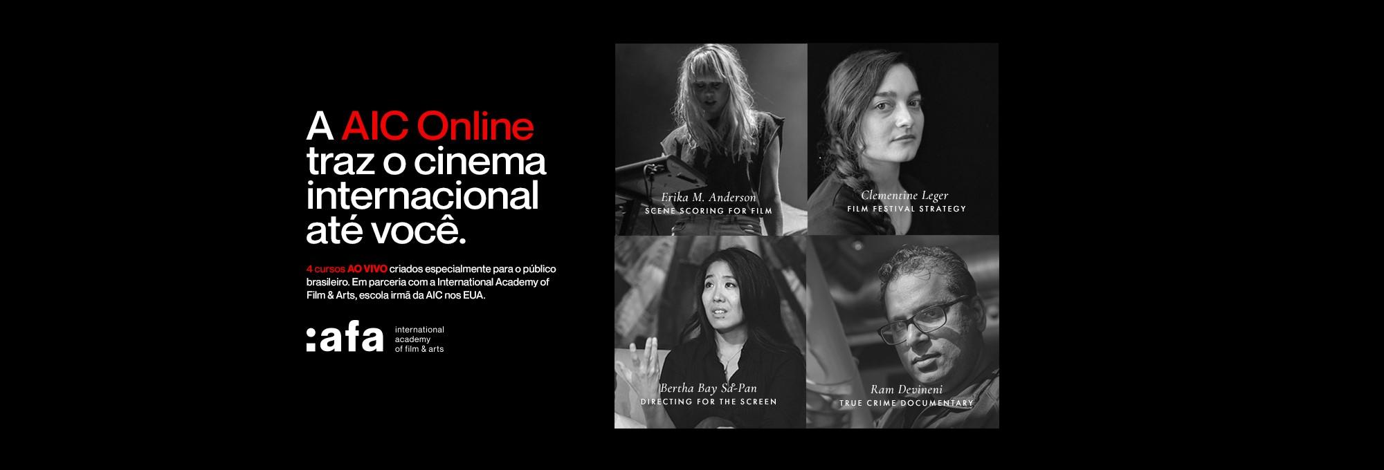 Novos cursos em parceria com a International Academy of Film & Arts