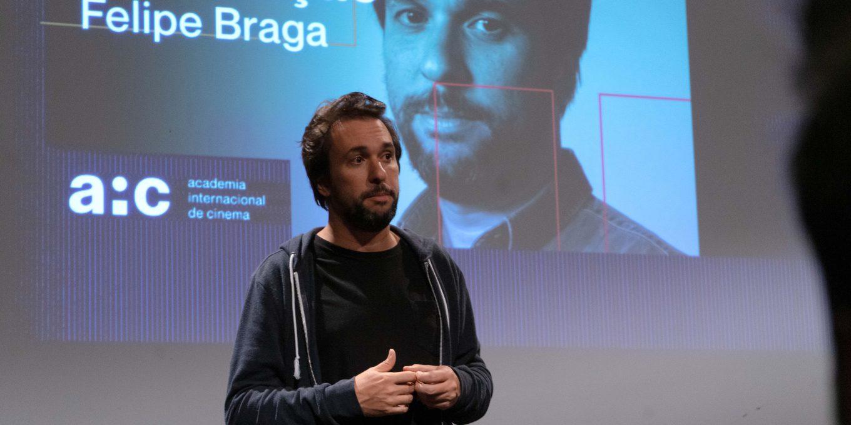 Felipe Braga, roteirista de Marighella, na Semana de Orientação de São Paulo