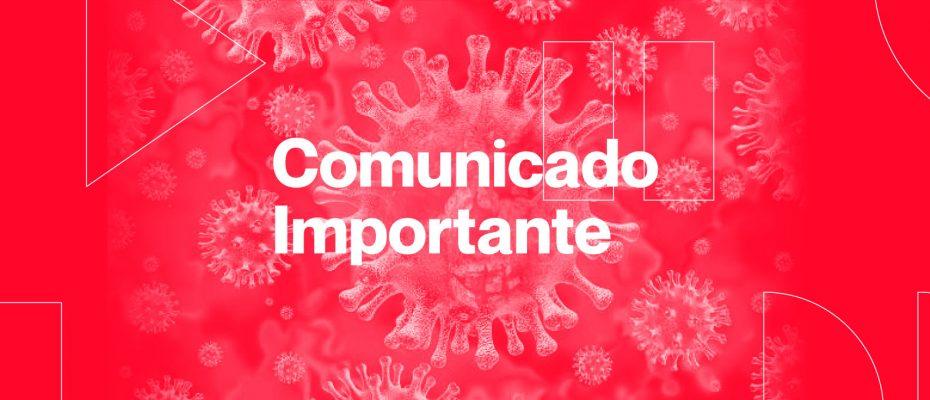 COMUNICADO CORONAVÍRUS | Suspensão das aulas